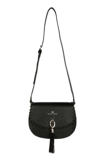 Céline Dion Espressivo Faux Leather Saddle Bag - Black