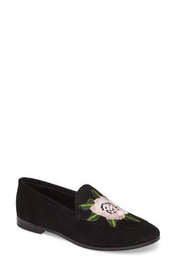 Rebecca Minkoff Dylan Floral Embroidered Loafer, Black