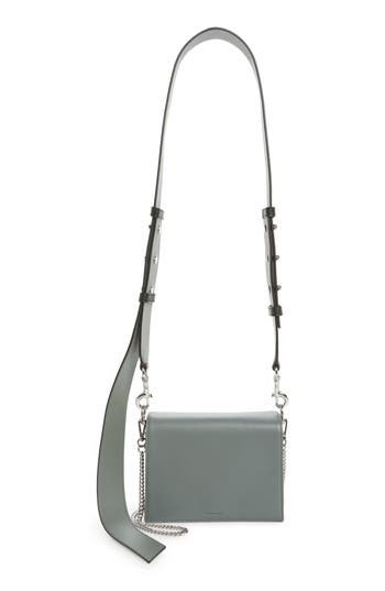 Allsaints Zep Lambskin Leather Shoulder Bag - Blue