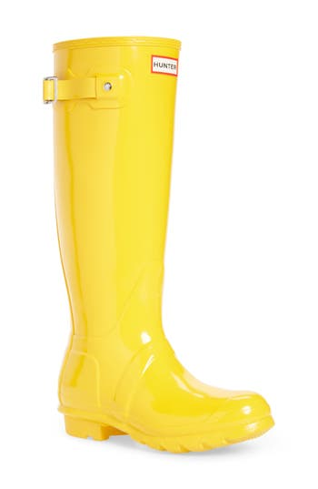 Hunter Original High Gloss Boot, Yellow