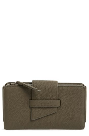 Allsaints Ray Leather Wallet - Grey