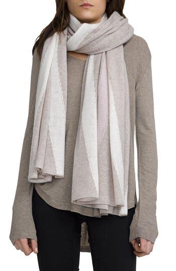 Women's White + Warren Travel Intarsia Cashmere Wrap, Size One Size - Beige