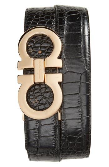 Men's Salvatore Ferragamo Gancini Leather Belt