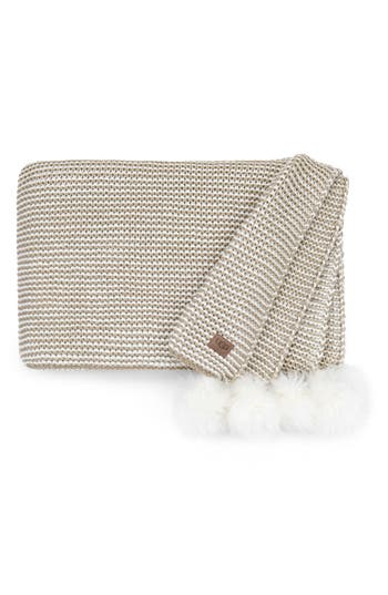 Ugg Snow Creek Genuine Shearling Throw, Size One Size - Beige