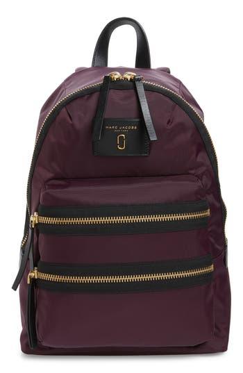 marc jacobs female marc jacobs biker nylon backpack purple