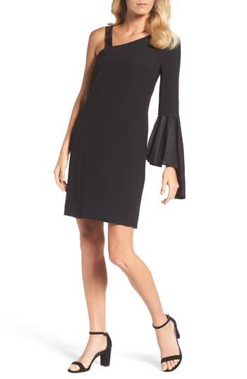 Nic+Zoe One-Shoulder Sheath Dress, Black