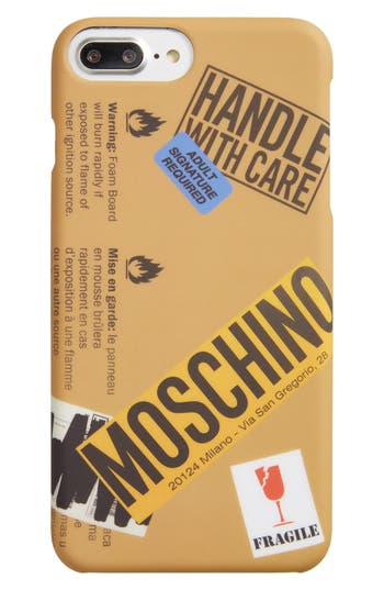 Moschino Package Iphone 6/6S Plus & 7 Plus Case - Beige
