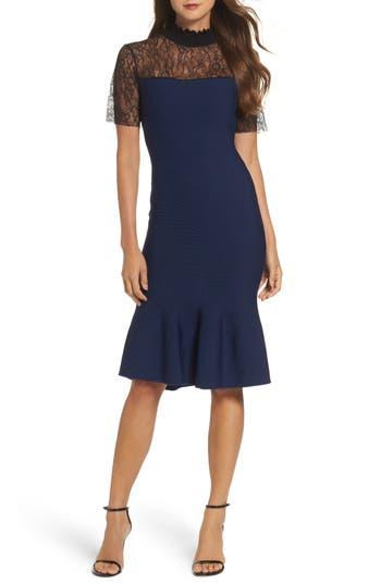 Sachin & Babi Noir Deena Fit & Flare Dress, Blue