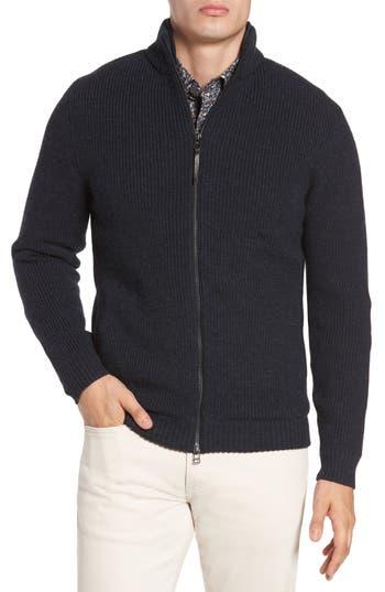 Rodd & Gunn Camerons Track Zip Wool Sweater, Blue
