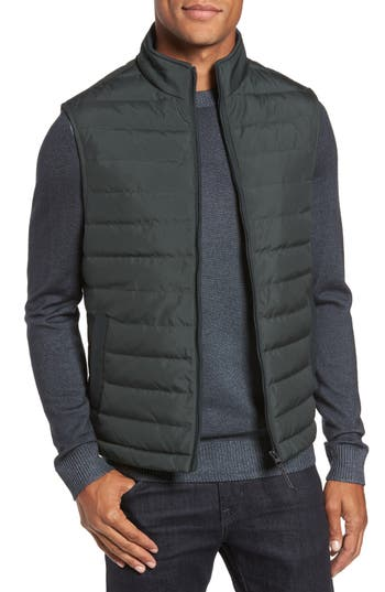 Ted Baker London Jozeph Quilted Down Vest, (m) - Green