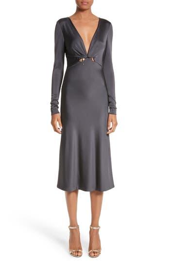 Cushnie Et Ochs Magdelena Ring Detail Jersey Dress, Black