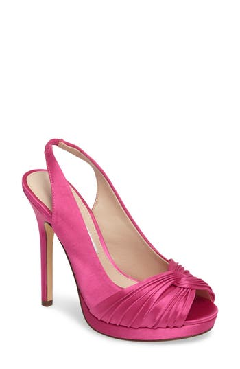 Nina Felyce Peep Toe Slingback Pump, Pink