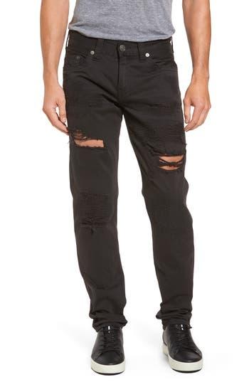 Big & Tall True Religion Brand Jeans Geno Straight Fit Jeans, Black