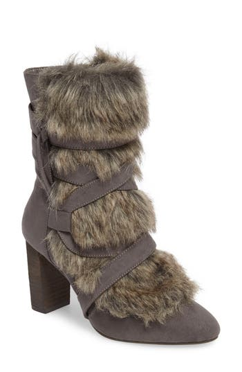 Charles By Charles David Alberta Faux Fur Boot, Grey