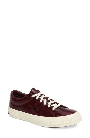 Converse Chuck Taylor All Star One Star Low-Top Sneaker, Burgundy
