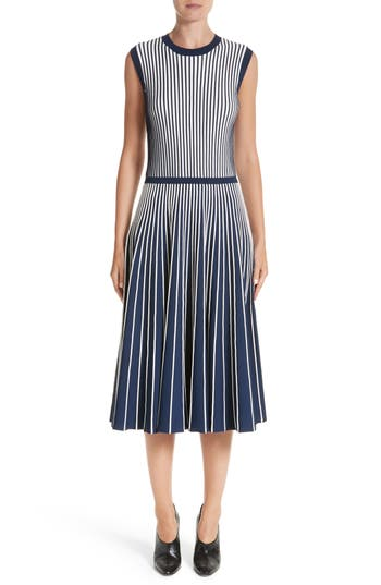 Jason Wu Stripe Knit Day Dress, Blue