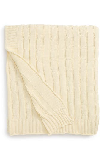 Rizzy Home Cable Knit Cotton Throw, Size One Size - Beige