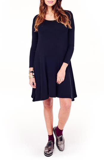 Ingrid & Isabel Maternity Trapeze Dress, Black