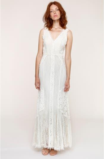 Heartloom Felix Cutout Back Lace Fit & Flare Dress, White