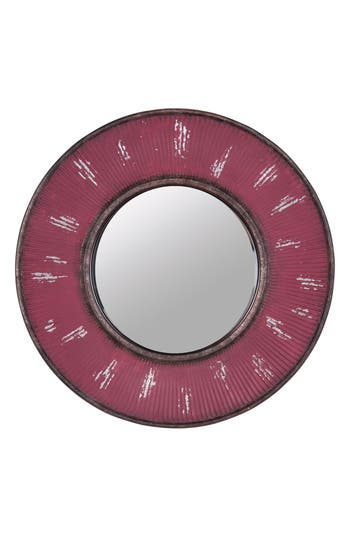 Foreside Sunburst Mirror, Size One Size - Red