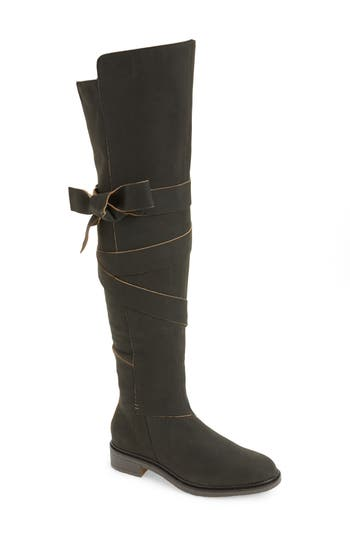 Kelsi Dagger Brooklyn Colby Over The Knee Boot- Black
