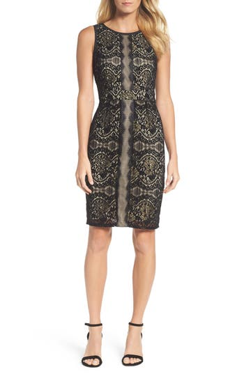 Adrianna Papell Lace Sheath Dress, Black