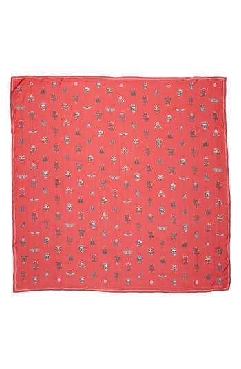 Women's Alexander Mcqueen Medieval Flower Silk Scarf