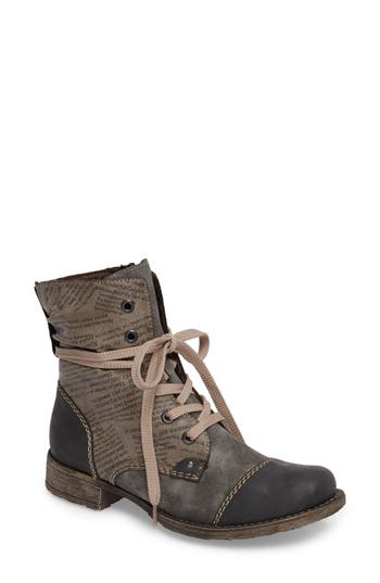 Rieker Antistress Payton 22 Lace-Up Boot, Grey