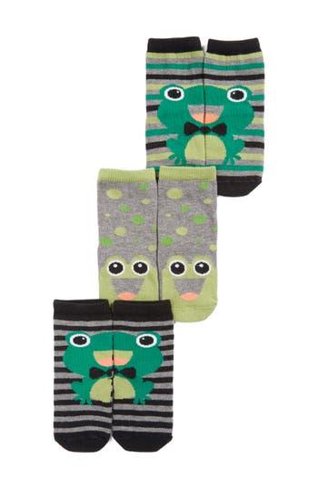 Infant Boys Tucker  Tate Assorted 3Pack Frog Socks