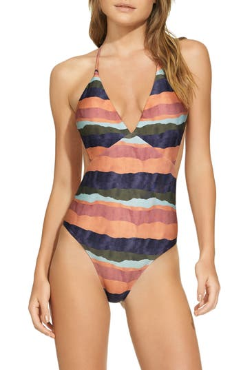 Vix Swimwear Bonaire One-Piece Swimsuit, Coral