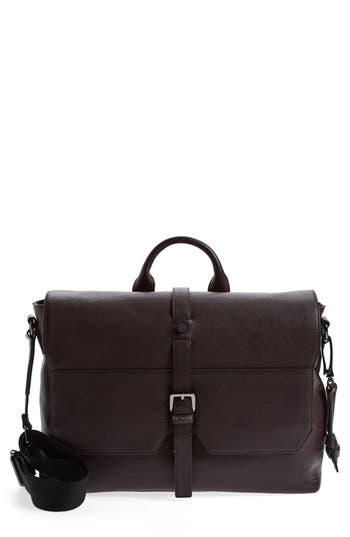 Ted Baker London Cheeta Leather Messenger Bag - Purple