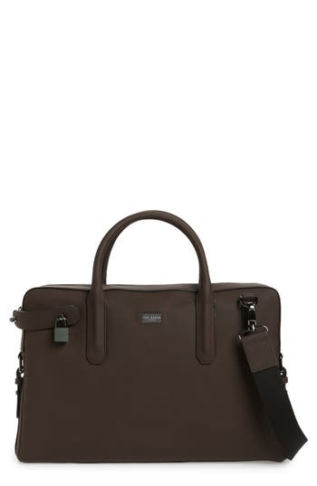 Ted Baker London Ozboz Leather Briefcase - Brown