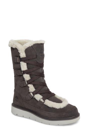 Timberland Kenniston Faux Fur Water Resistant Mukluk Boot, Grey