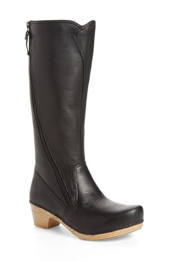 Dansko Martha Tall Boot-6- Black
