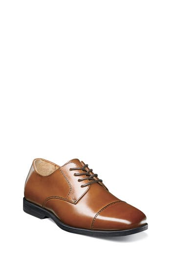 Boys Florsheim Reveal Cap Toe Derby Size 3.5 M  Brown