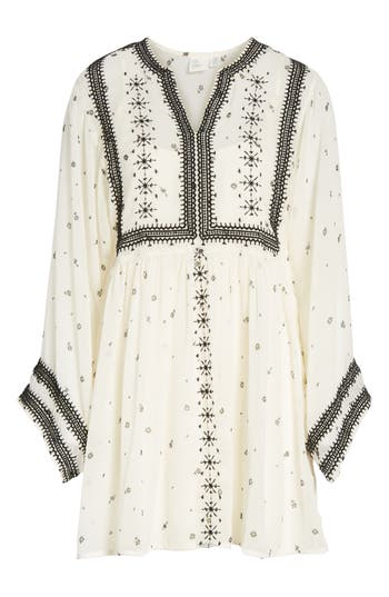 Love Like Summer X Billabong Chiffon Babydoll Dress, Ivory