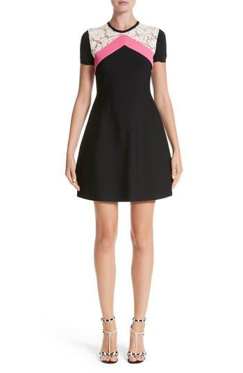 Women's Valentino Chevron Lace Knit Dress, Size X-Small - Black