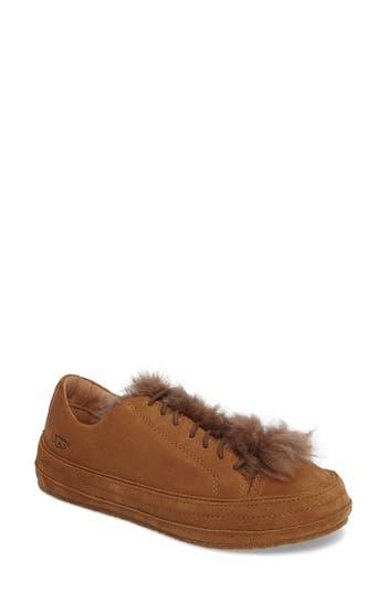 Ugg Blake Genuine Shearling Sneaker- Brown