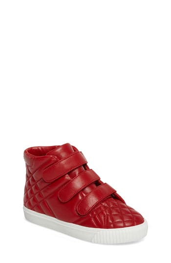Boys Burberry Sturrock Quilted High Top Sneaker