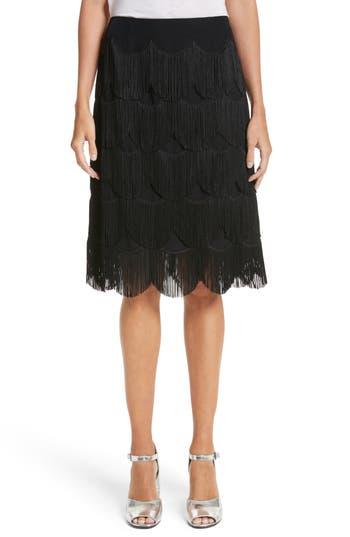 Women's Marc Jacobs Fringe Skirt, Size 0 - Black