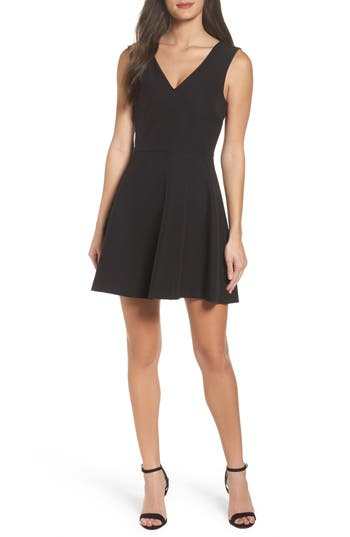 Felicity & Coco Bianca Back Cutout Fit & Flare Dress