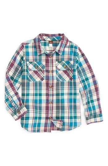 Boys Tea Collection Beaufort Plaid Flannel Shirt
