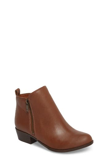 Girl's Lucky Brand Basel Double-Zip Bootie, Size 4 M - Brown