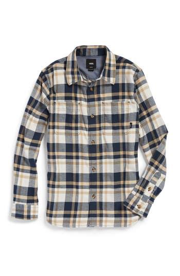 Boys Vans Banfield Plaid Flannel Shirt