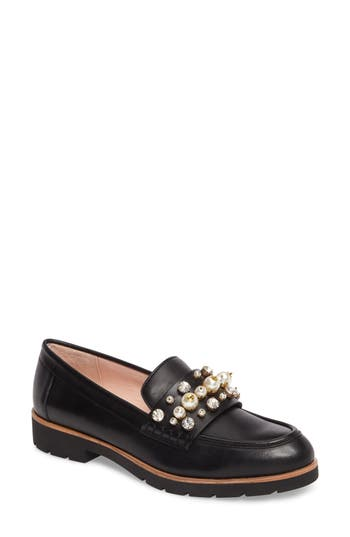 Women's Kate Spade New York Karry Too Embellished Loafer, Size 8.5 M - Black