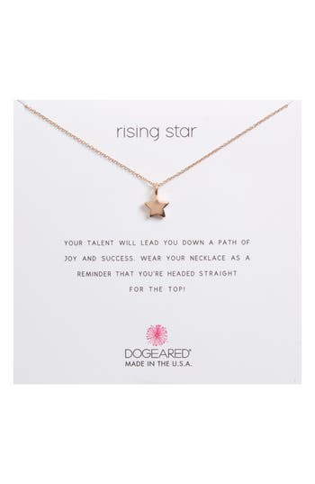 Women's Dogeared Rising Star, Full Star Pendant Necklace
