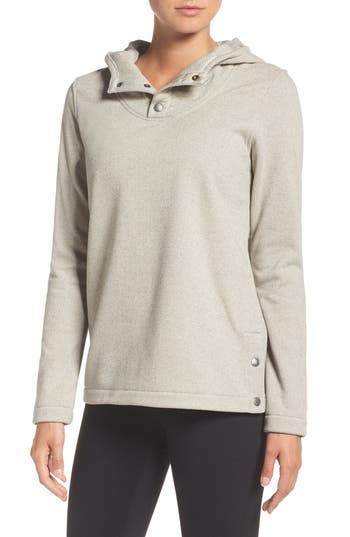 The North Face Knit Stitch Fleece Hoodie, Ivory