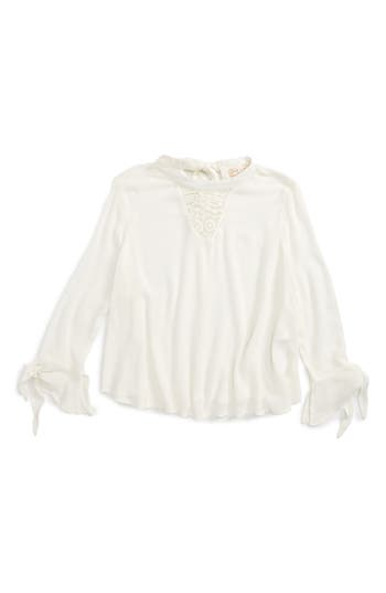 Girls Zoe And Rose Crochet Inset Top