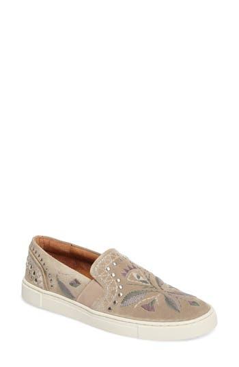 Frye Ivy Embroidered Slip-On Sneaker, Brown