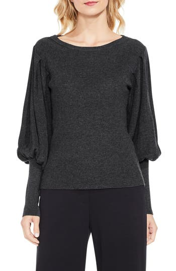Women's Vince Camuto Bubble Sleeve Sweater, Size X-Small - Grey